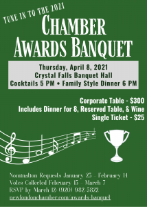 2021 Chamber Awards Banquet New London Area Chamber of Commerce